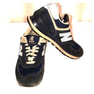 New Balance 574 sneakers blue women's size 8